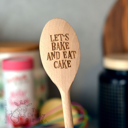 Personalised Wooden Spoon - Text Style 4