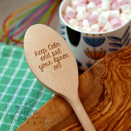 Personalised Wooden Spoon - Text Style 6