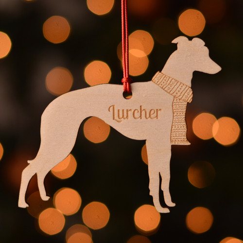 Personalised Lurcher Dog Pet Decoration - The Crafty Giraffe
