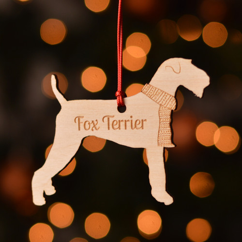 Personalised Fox Terrier Dog Pet Decoration - The Crafty Giraffe