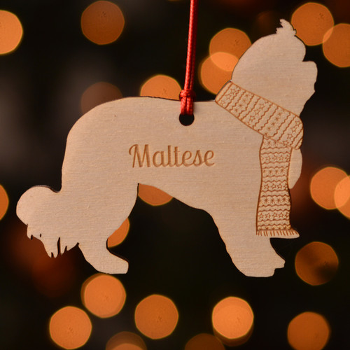 Personalised Maltese Dog Pet Decoration - The Crafty Giraffe