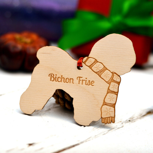 Personalised Bichon Frise Dog Pet Decoration - The Crafty Giraffe