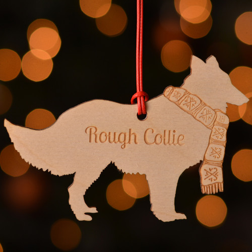 Personalised Rough Collie Dog Pet Decoration - The Crafty Giraffe