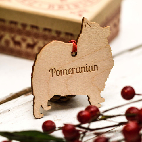 Personalised Pomeranian Dog Decoration