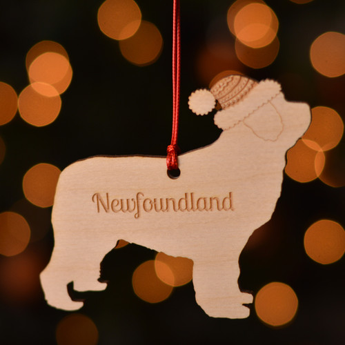 Personalised Newfoundland Dog Pet Decoration - The Crafty Giraffe