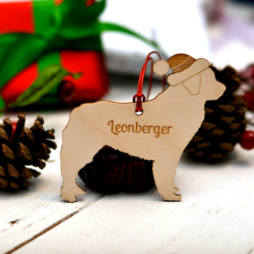 Personalised Leonberger Dog Pet Decoration - The Crafty Giraffe