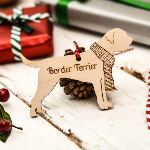 Personalised Border Terrier Dog Pet Decoration - The Crafty Giraffe