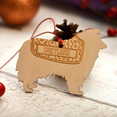 Personalised Shetland SheepDog Pet Decoration - The Crafty Giraffe