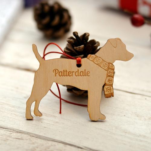 Personalised Patterdale Dog Pet Decoration - The Crafty Giraffe