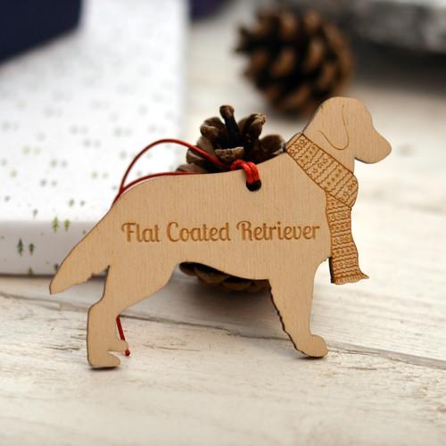Personalised Flat Coated Retriever Dog Pet Decoration - The Crafty Giraffe