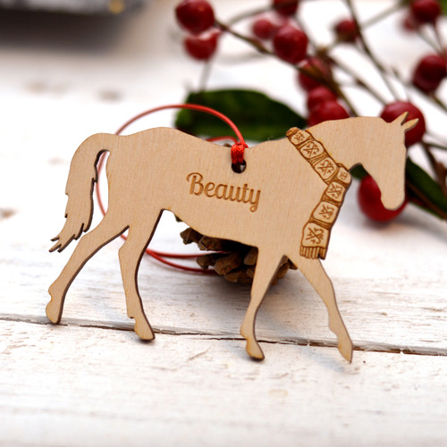 Personalised Horse Farm Animal Pet Decoration - The Crafty Giraffe