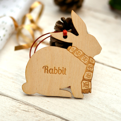 Personalised Rabbit Decoration