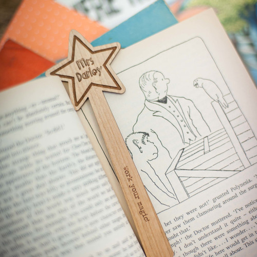 Personalised Star Wand Bookmark