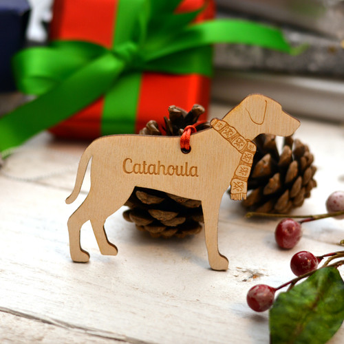 Personalised Catahoula Dog Pet Decoration - The Crafty Giraffe