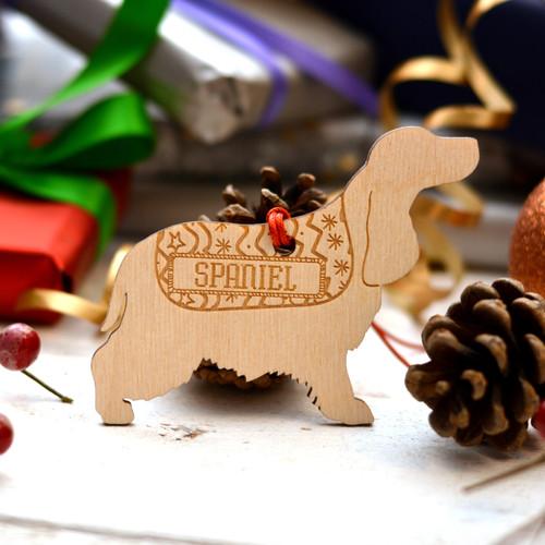 Personalised Spaniel Dog Pet Decoration - The Crafty Giraffe