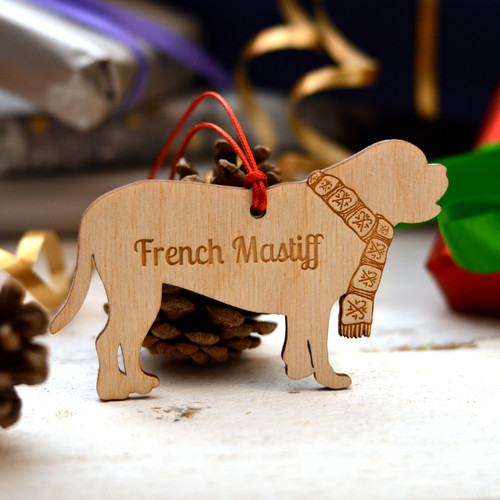 Personalised Dogue De Bourdeaux Dog Pet Dog Pet Decoration - The Crafty Giraffe