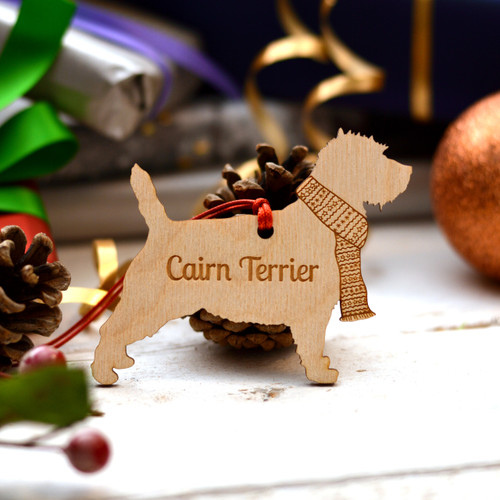 Personalised Cairn Terrier Dog Pet Decoration - The Crafty Giraffe