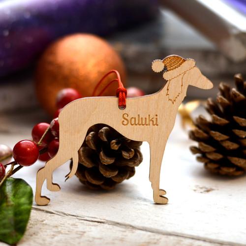 Personalised Saluki Dog Pet Decoration - The Crafty Giraffe