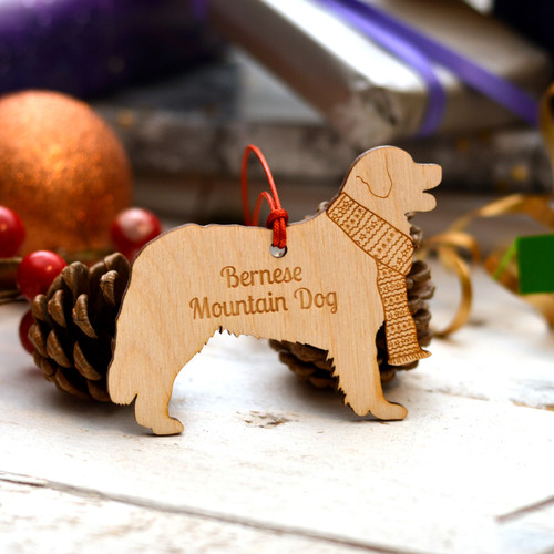 Personalised Bernese Mountain Dog Pet Decoration - The Crafty Giraffe