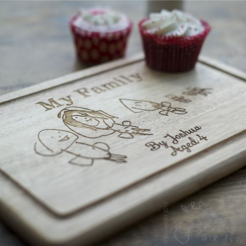 Personalised Wooden Board with Drawing