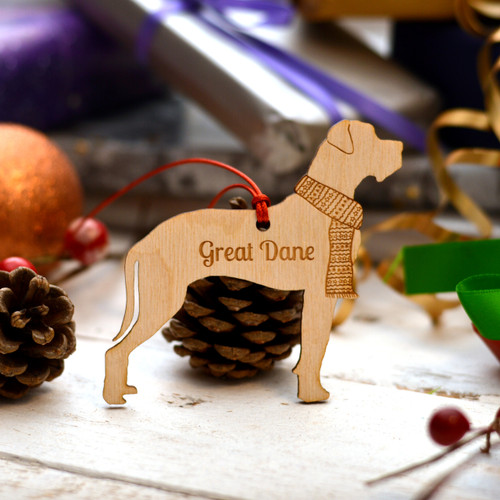 Personalised Great Dane Floppy Ears Dog Pet Decoration - The Crafty Giraffe