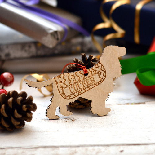 Personalised Cocker Spaniel Dog Pet Decoration - Long Tail - The Crafty Giraffe