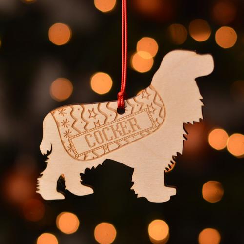 Personalised Cocker Spaniel Dog Pet Decoration - Short Tail - The Crafty Giraffe