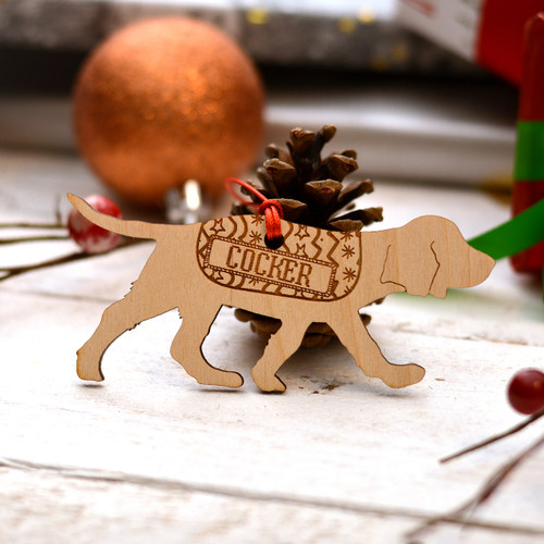 Personalised Working Cocker Spaniel Dog Pet Decoration - Long Tail - The Crafty Giraffe