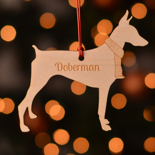 Personalised Doberman Dog Pet Decoration - Short Tail - The Crafty Giraffe