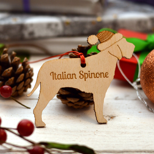 Personalised Italian Spinone Dog Pet Decoration - Long Tail - The Crafty Giraffe