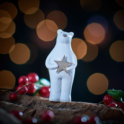 Bear holding Star Decoration - The Crafty Giraffe