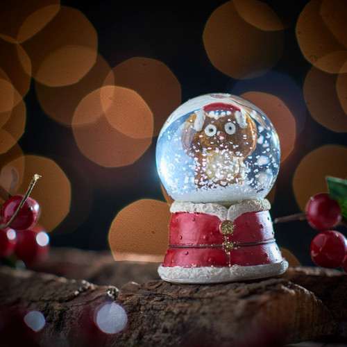 Buy Owl Snowglobe - Earmuffs From The Crafty Giraffe, the home of unique and affordable gifts for loved ones...
