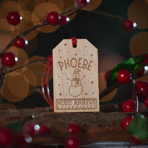 Buy Personalised Large Present Gift Tag - Snowman From The Crafty Giraffe, the home of unique and affordable gifts for loved ones...