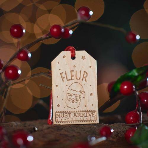 Personalised Large Present Gift Tag - Santa