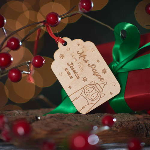 Buy Personalised Present To/From Gift Tag - Owl From The Crafty Giraffe, the home of unique and affordable gifts for loved ones...