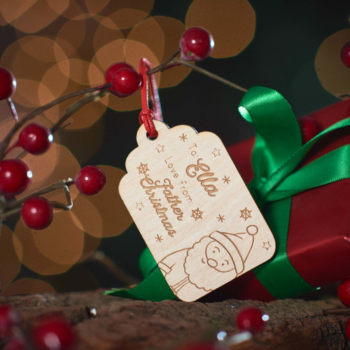 Buy Personalised Present To/From Gift Tag - Santa From The Crafty Giraffe, the home of unique and affordable gifts for loved ones...