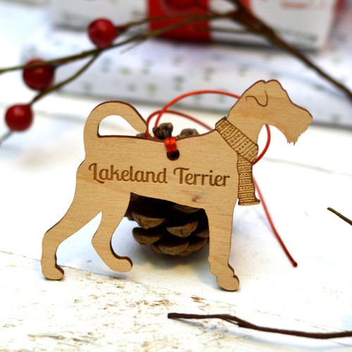 Personalised Lakeland terrier Dog Pet Decoration - The Crafty Giraffe