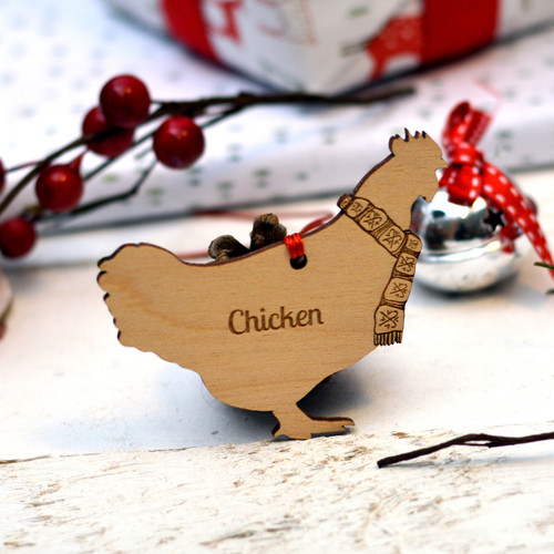 Personalised Chicken Farm Animal Pet Decoration - The Crafty Giraffe