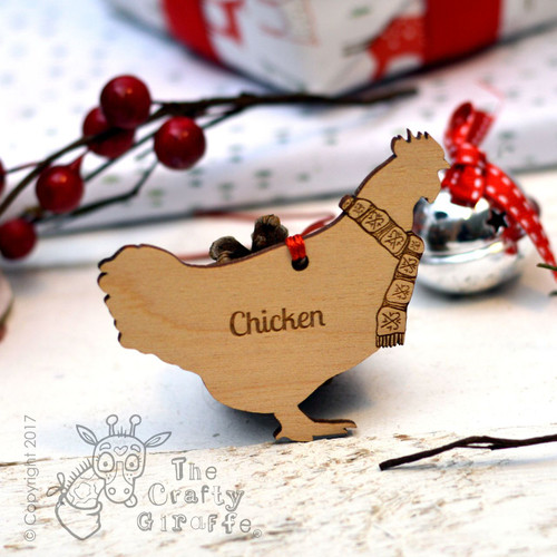 Personalised Chicken Decoration