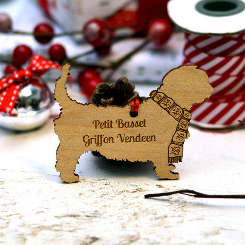 Personalised Petit Basset Griffon Vendeen Dog Pet Decoration - The Crafty Giraffe