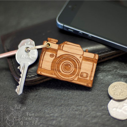 Personalised Camera Keyring