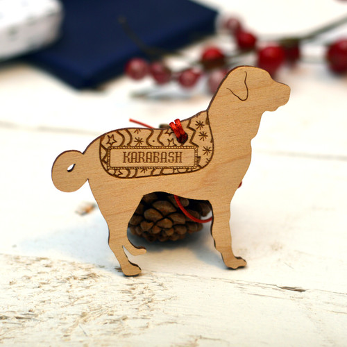 Personalised Karabash Dog Pet Decoration - The Crafty Giraffe