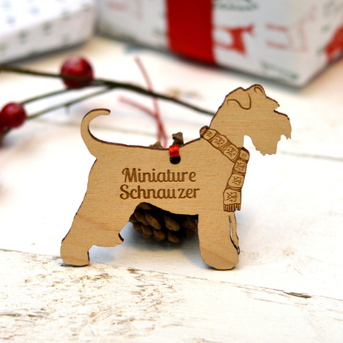 Personalised Miniature Schnauzer Dog Pet Decoration - The Crafty Giraffe
