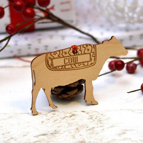Personalised Cow Farm Animal Pet Decoration - The Crafty Giraffe