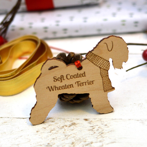 Personalised Soft Coated Wheaten Terrier Dog Pet Decoration - The Crafty Giraffe