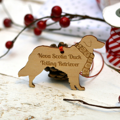 Personalised Nova Scotia Duck Tolling Retriever Dog Pet Decoration - The Crafty Giraffe