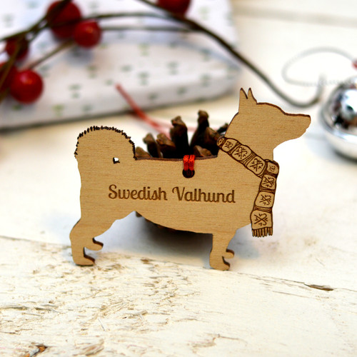 Personalised Swedish Vallhund Dog Pet Decoration - The Crafty Giraffe