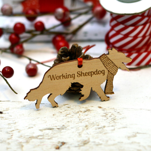 Personalised Working SheepDog Pet Decoration - The Crafty Giraffe