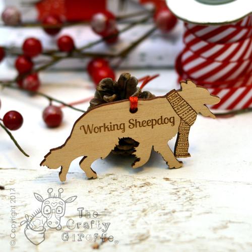 Personalised Working Sheepdog Decoration