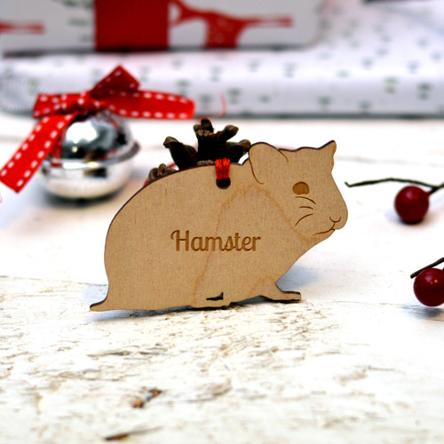 Personalised Hamster Pet Decoration - The Crafty Giraffe